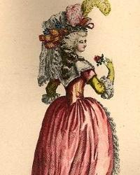 Женский костюм конца 17 века.